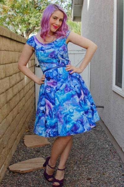 Modcloth Retrolicious Hooved On A Feeling Dress 018