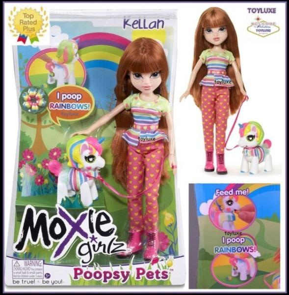 Moxie Girlz Kellan Poopsy Pets Doll With Pet Unicorn & For Sale