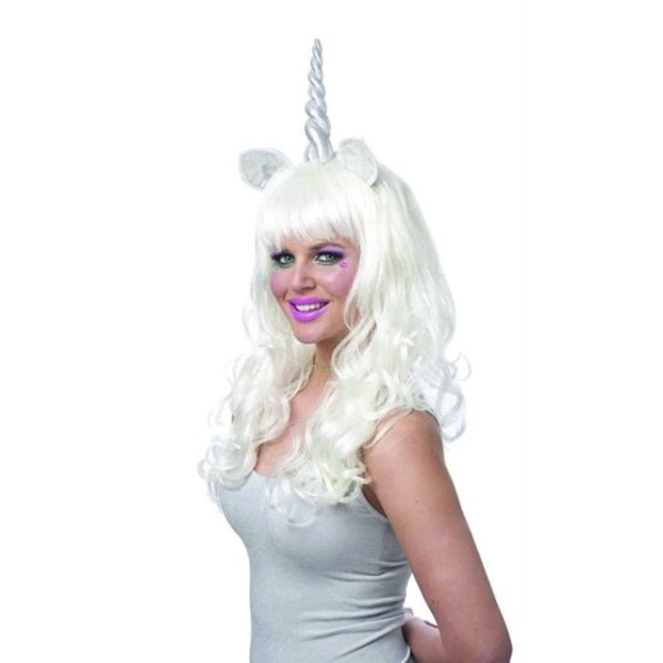 Mystical Unicorn Wig With Silver Horn & Ears For Sale Online