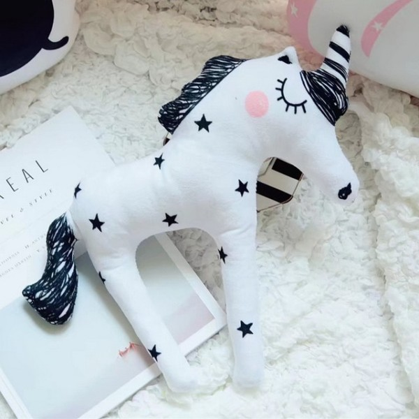 New Soft Dolls Unicorn Horn Sleep Pillow Baby Child Kids Plush