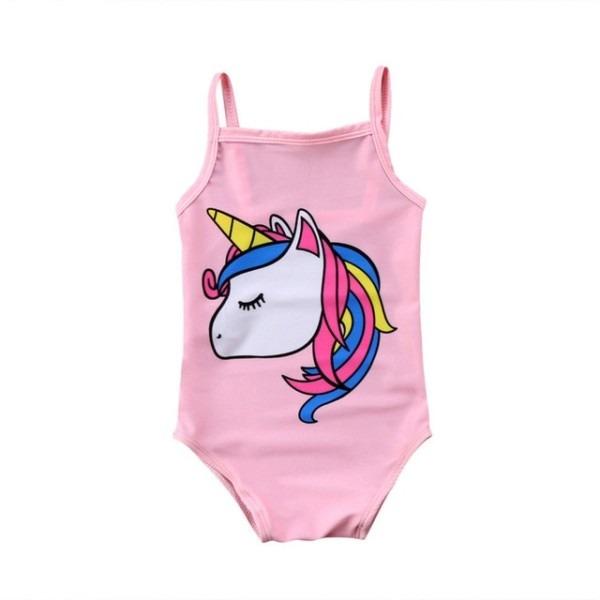 Newborn Infant Kids Baby Girl Unicorn Swimwear One Piece Swimsuit