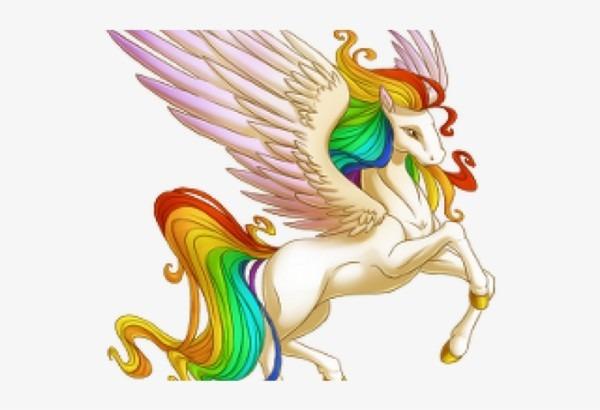 Pegasus Clipart Rainbow Unicorn