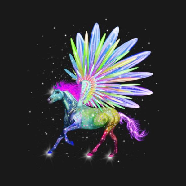 Pegasus Rainbow Horse Unicorn Design