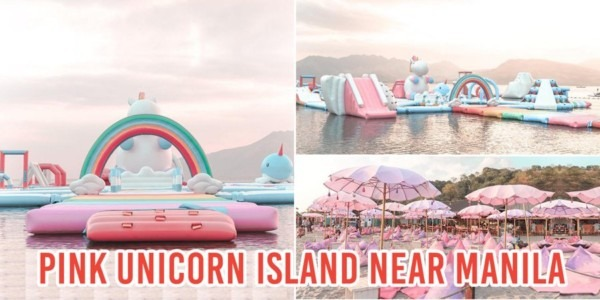 Pink Unicorn Inflatable Island Is Part Of Asia's Biggest Floating