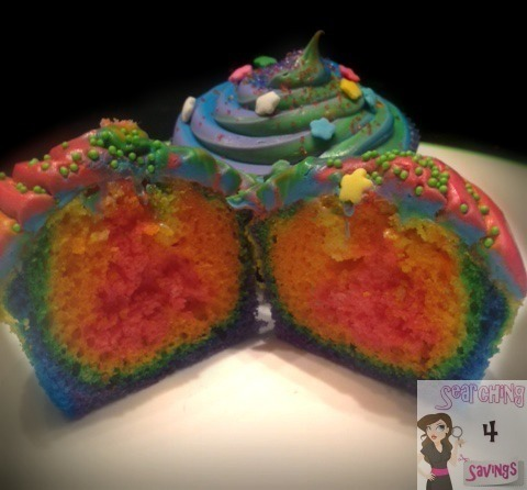 Rainbow Cupcakes With Unicorn Poop Frosting