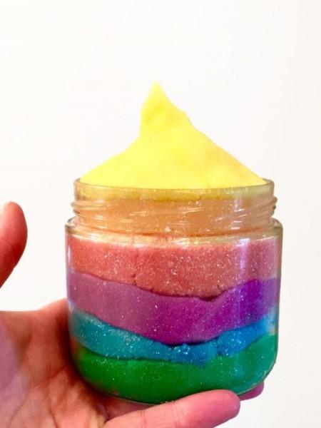 Rainbow Moldable Sugar Scrub Recipe