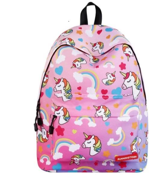 Rainbow Unicorn Backpack For Teenage Girls Children School Bags