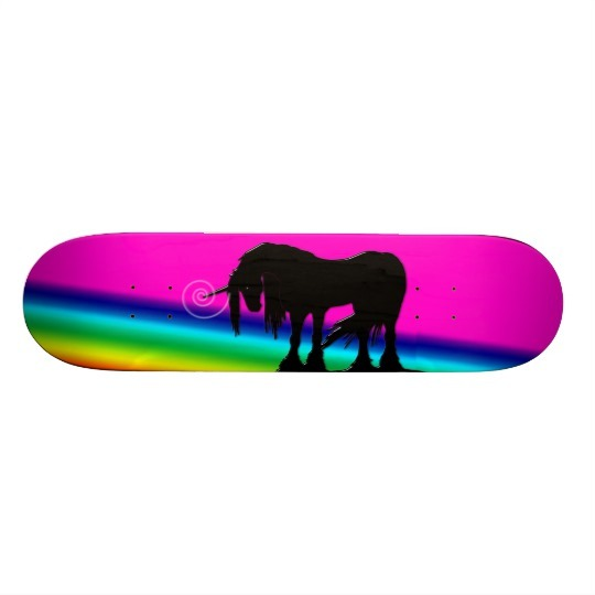 Rainbow Unicorn Skateboard Deck