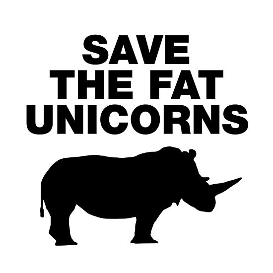 Save The Fat Unicorns Funny Quotes Unicorn Sayings  Posters By