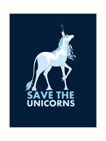 Save The Unicorns  Art Prints By Gallifreya