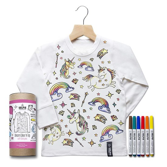 Selfie Clothing Colour In Unicorn Top