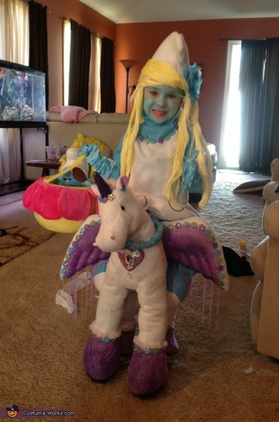 Smurfette Riding A Unicorn Illusion Costume