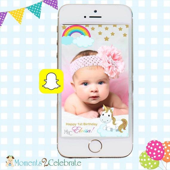 Snapchat Geofilters, Birthday Snapchat Filters, Unicorn Snapchat