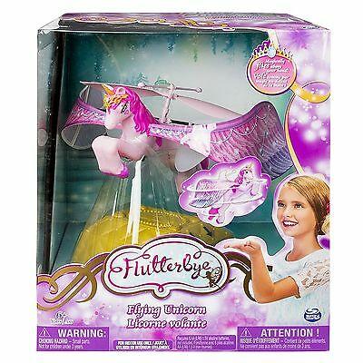 Spin Master Flutterbye Fairy Flying Pink Unicorn Toy