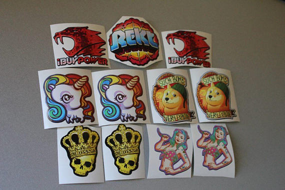Stickers From Cs Go Set  2 Rekt Ibuypower Crown Unicorn Mlg Krakow