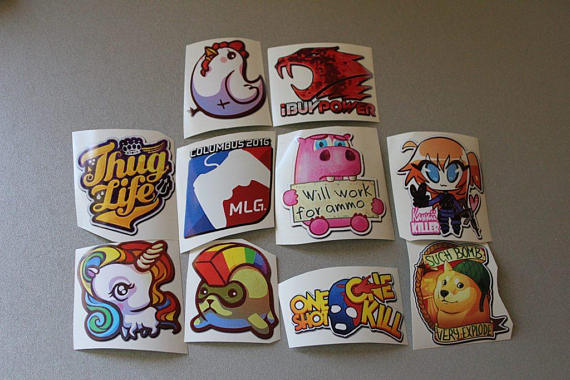 Stickers From Cs Go Set  3 Kawai Killer Hamster Hawk One Shoot One