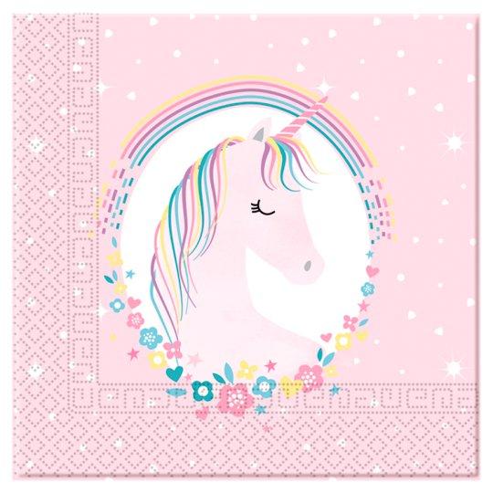 Tesco Unicorn Napkin 16pk