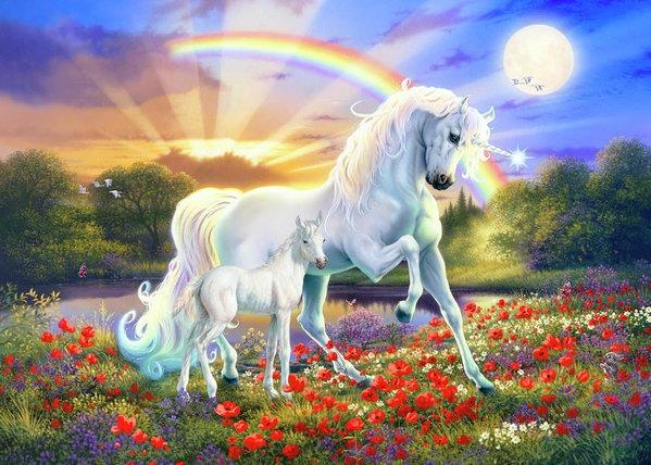 The Rainbow Unicorn Art Print By Mgl Meiklejohn Graphics Licensing