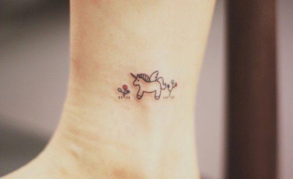 The Unicorn Minimalist Tattoo Design