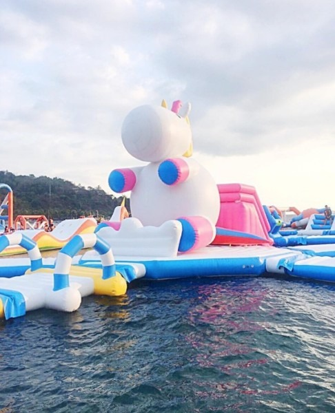 This Inflatable Unicorn Island In The Philippines Was Made For