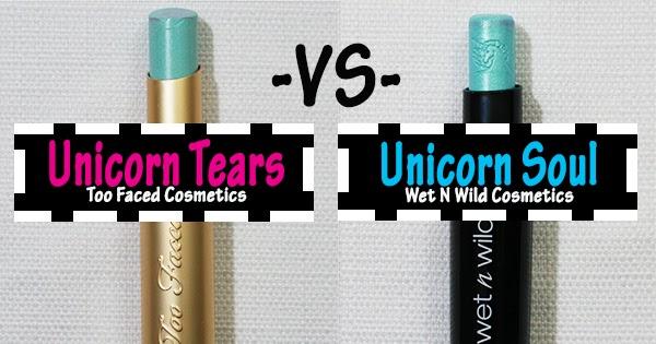 Too Faced Unicorn Tears Lipstick Vs  Wet N Wild Unicorn Soul Lipstick