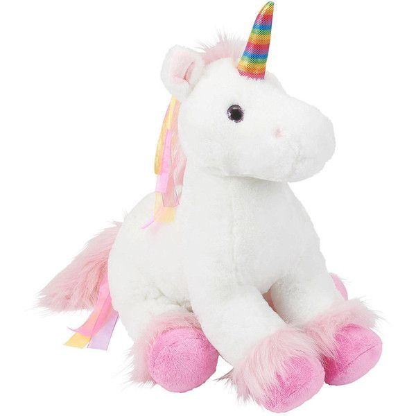 Toys R Us Plush 18 Inch Rainbow Unicorn White (276 470 Idr