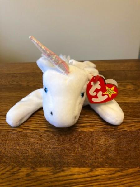 Ty Beanie Baby  Mystic  Unicorn Rare With Errors 1993