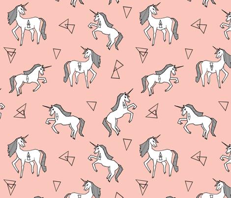 Unicorn    Unicorns Pink Girls Sweet Pastel Pink Unicorn Fabric