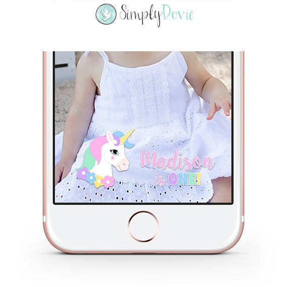 Unicorn Birthday Snapchat Geofilter Custom Snapchat Filter