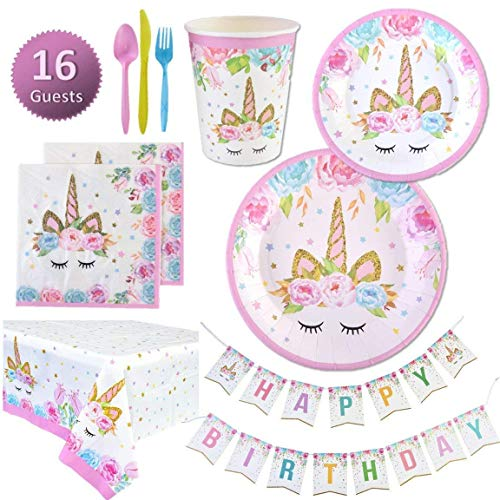 Unicorn Birthday Supplies  Amazon Com