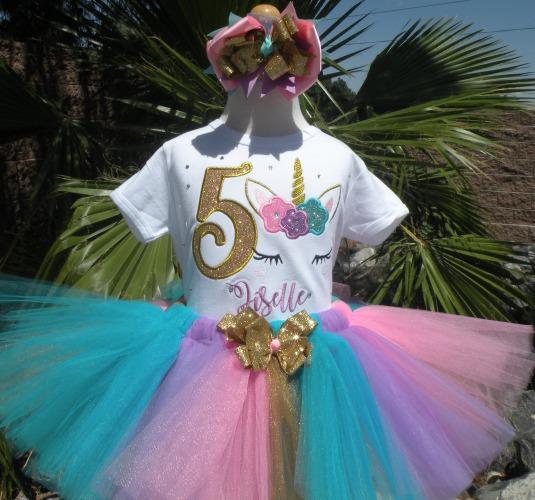 Unicorn Birthday Tutu Outfit