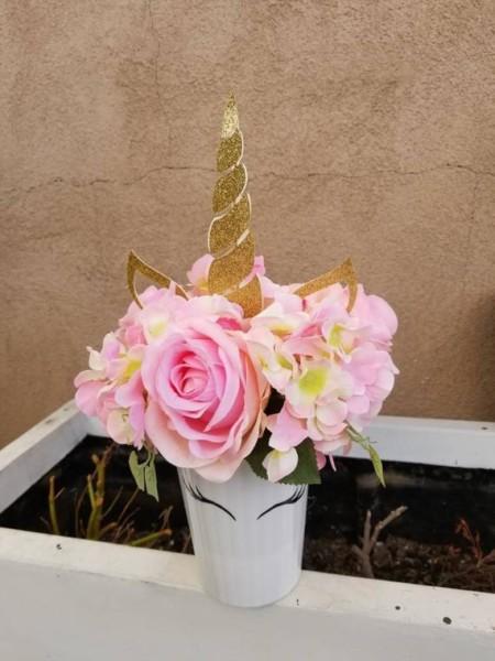 Unicorn Centerpiece Silk Flower Centerpiece
