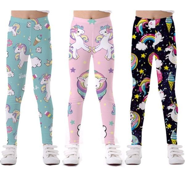 Unicorn Girls Leggings Baby Girl Leginsy Kids Pants Trousers For