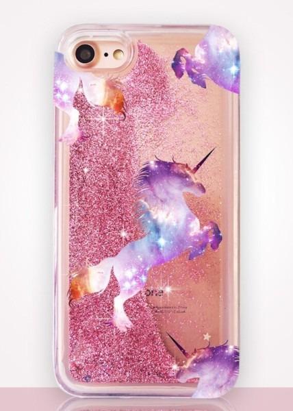 Unicorn Glitter Clear Phone Case – Catching Rainbows