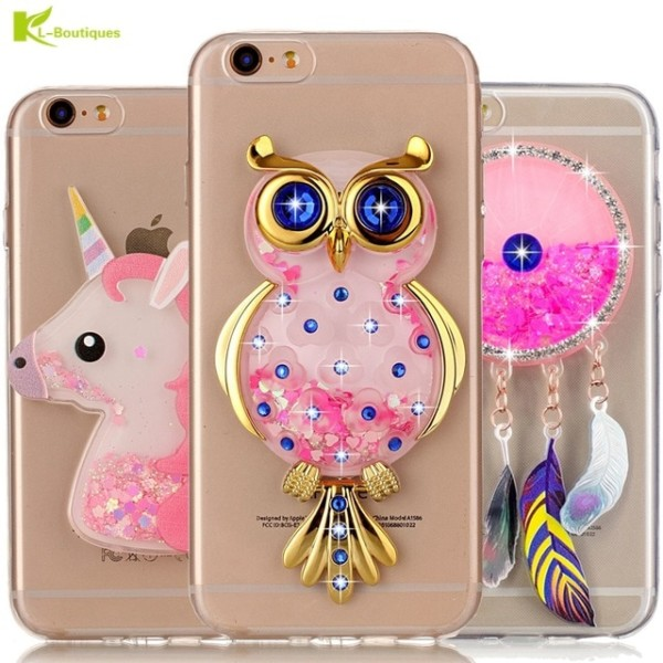 Unicorn Glitter Liquid Case For Iphone 6 Cover For Iphone 6 6s