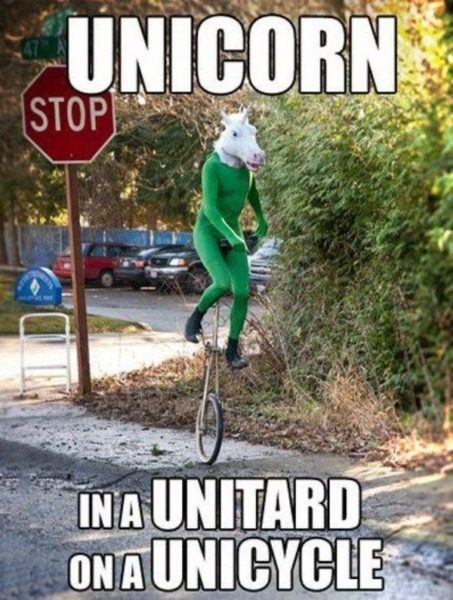 Unicorn In A Unitard On A Unicycle Thrice The