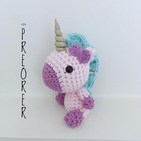 Unicorn Keychain Amigurumi Crochet Unicorn