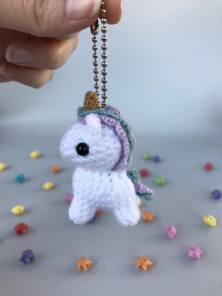 Unicorn Keychain Crochet Keychain Amigurumi Cute Keychain
