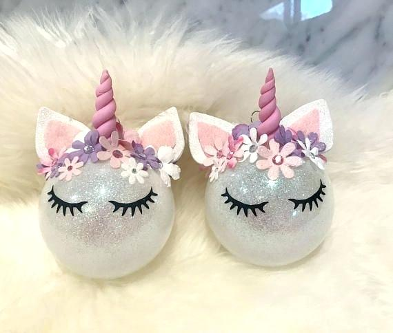Unicorn Ornaments Decor Ins Flexible Girl Pink Heart Home