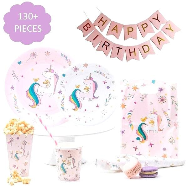 Unicorn Party Plates Supplies And Napkins Personalized – Dabo Studios
