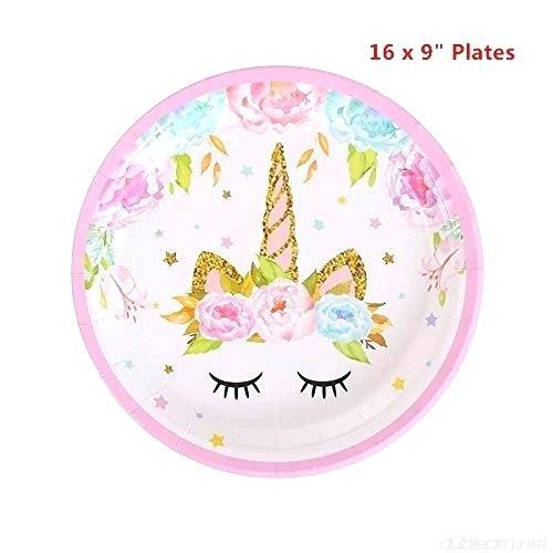 Unicorn Party Plates Tesco Pastel Paper – Tatix