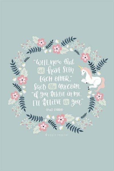 Unicorn Print Alice In Wonderland Quote Unicorn Quote