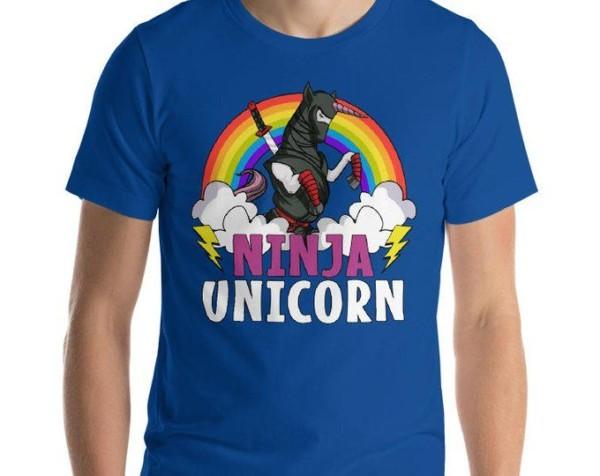 Unicorn Shirt Ninja Shirt Samurai Shirt Unicorn Clothing Rainbow