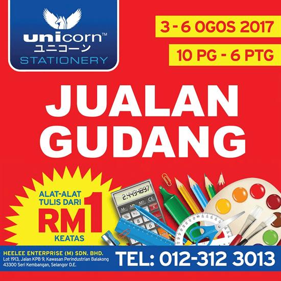 Unicorn Stationery   Warehouse Sale @ Seri Kembangan!