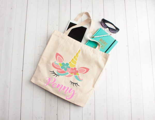 Unicorn Tote Bag, Unicorn Party, By Pretty Party Favors On Zibbet
