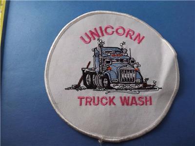 Unicorn Truck Wash Patch Large Employee Trucking Vintage Trucker