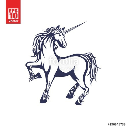 Unicorn Vector Illustration  Stock Image And Royalty