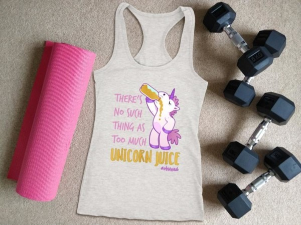 Unicorn Workout Tank For Women There's No Such Thing As