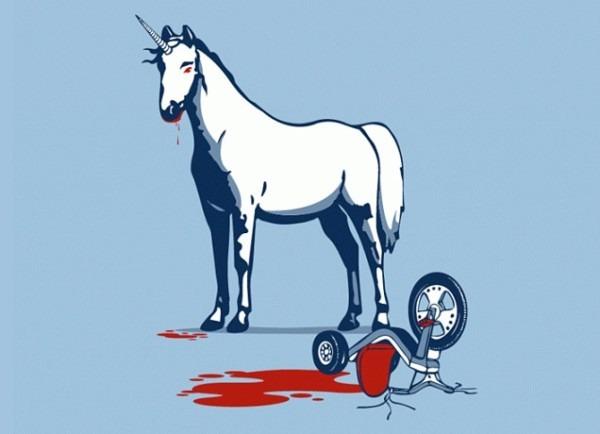 Unicorns Eat Children   On Threadless  Death  Tricycle  Unicorns