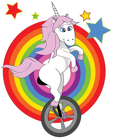 Unicycle  Unicorn  Unibrow  Posters By Jakecox